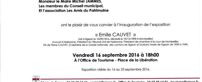 Exposition Emile Cauvet 2016