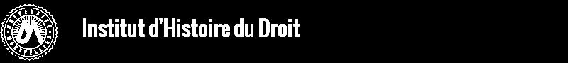 Institut de l'Histoire du Droit Logo